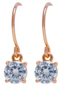 Anne Klein Rose Gold Crystal Drop Earrings