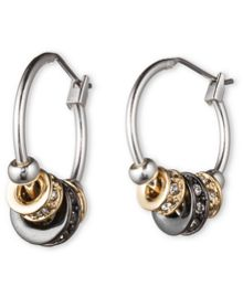 Nine West Tri Tone Hoop Earrings