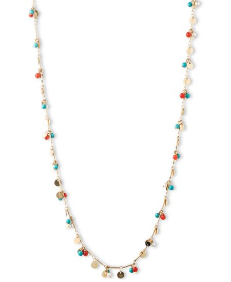 LONNA & LILLY Long Shaky Necklace With Coloured Beads