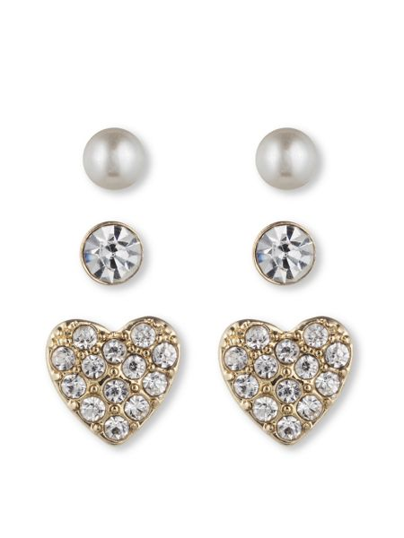 LONNA & LILLY Classic Stud Earring 3 Pair Set
