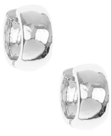 Nine West Silver Twisted Link Hoop Earrings