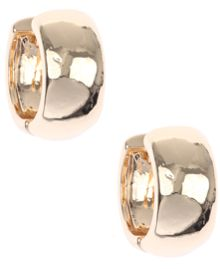 Nine West Classic Gold Hoop Earrings