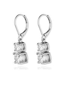 Anne Klein Leverback Double Stone Drop Earrings