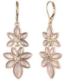 Anne Klein Flower Power Pink Drop Earrings