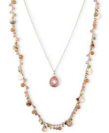 LONNA & LILLY Double Coral Necklace