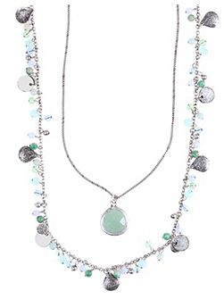 Two Row Shaky Nested Pendant Necklace