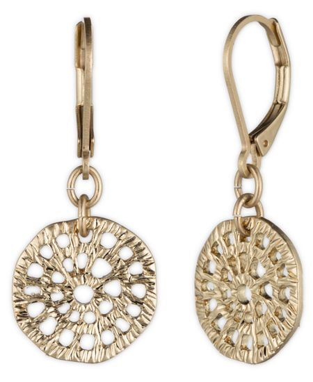 LONNA & LILLY Gold Disc Drop Earrings