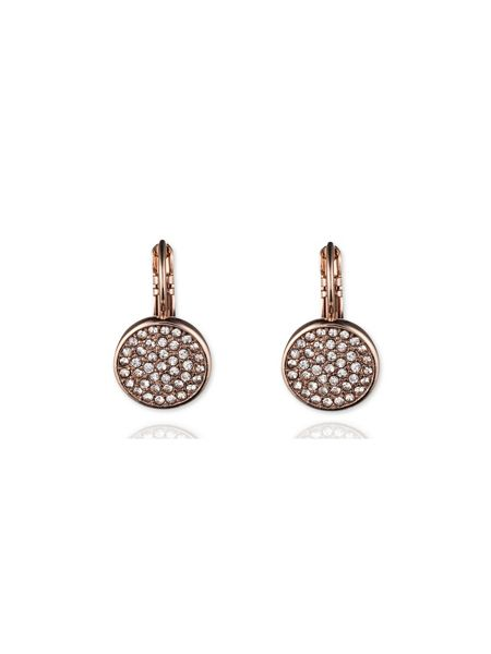 Anne Klein Pave Drop Disc Button Earrings