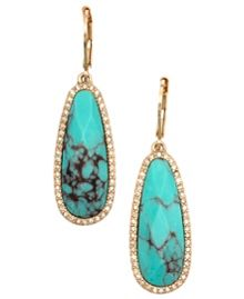 LONNA & LILLY Reconstituted calcite teardrop earrings