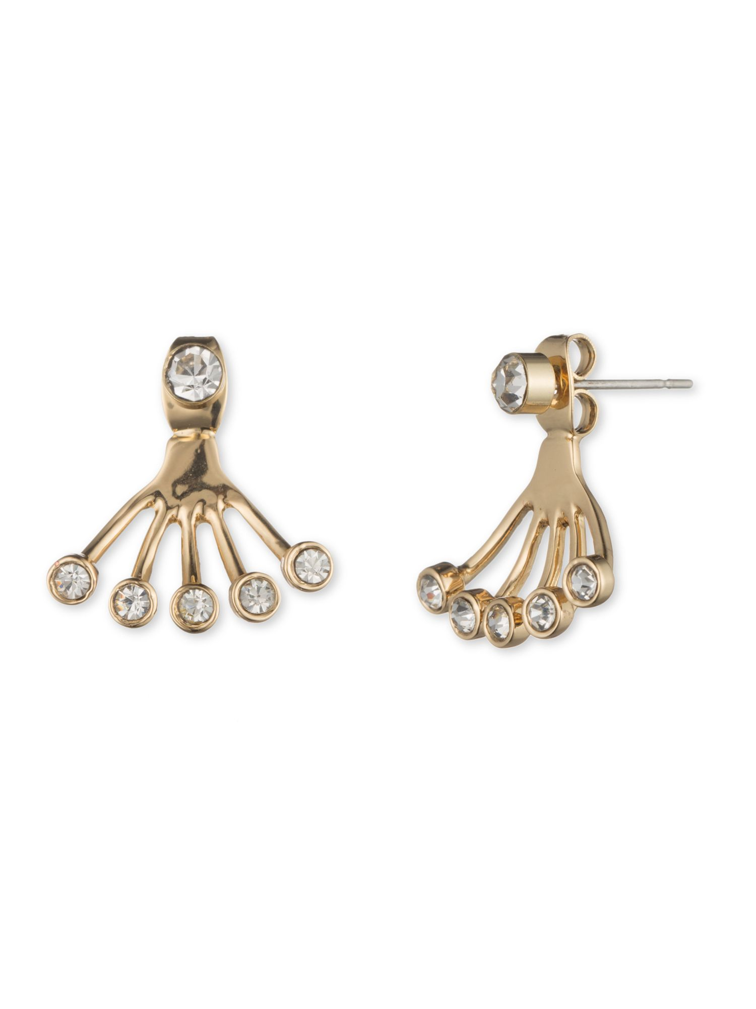 lonna and lilly rhinestone stud and jacket earrings set
