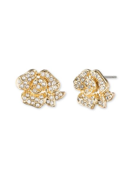Anne Klein Flower Stud Earrings