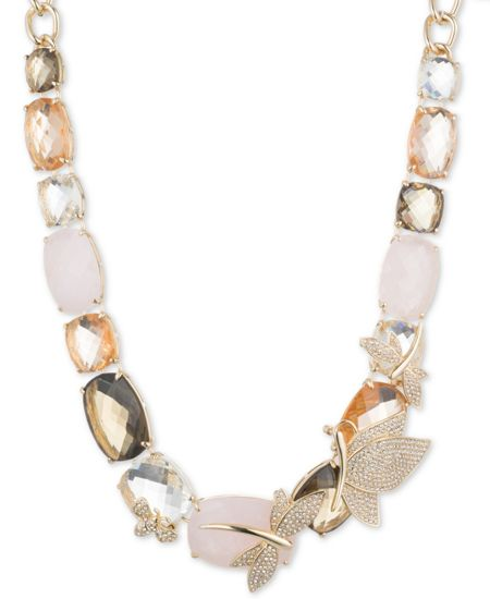 Anne Klein Drama Dragonfly Critter Collar Necklace