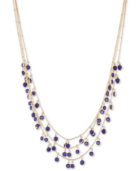Anne Klein Shaky 3 Row Necklace