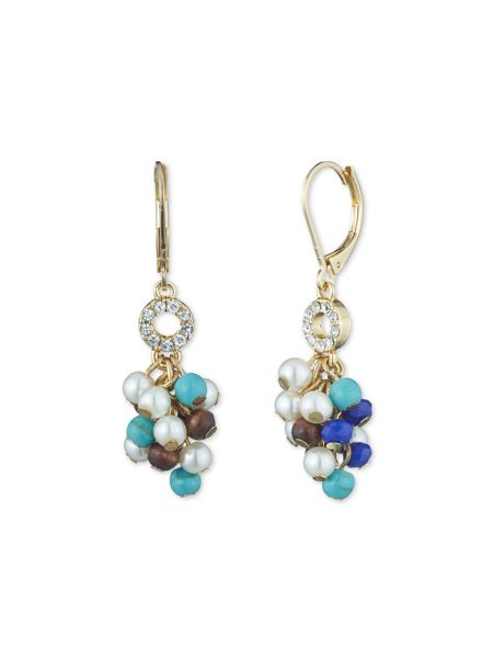 Anne Klein Shaky Pearl Leverback Earrings