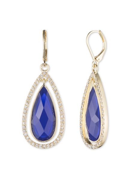 Anne Klein Leverback Teardrop Earrings