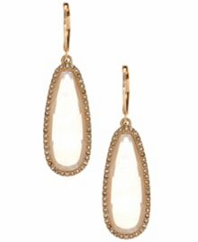 LONNA & LILLY Studded goldtone drop earrings