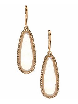 Studded goldtone drop earrings