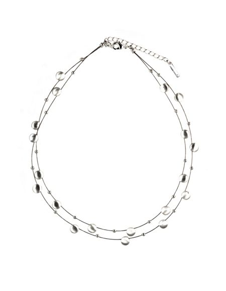 Nine West Double Row Chain Necklace