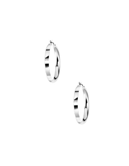 Nine West Classic Silver Hoop Earrings