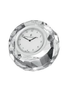 Royal Doulton Radiance collection clock round faceted