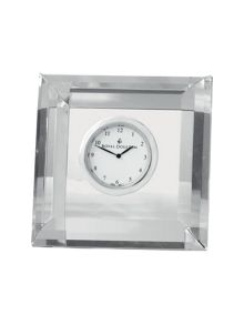 Royal Doulton Radiance collection clock square faceted