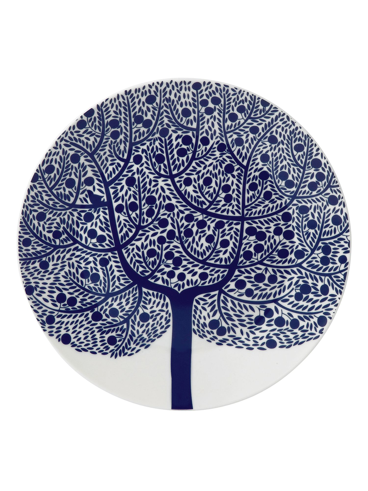 Fable 22cm blue tree accent plate