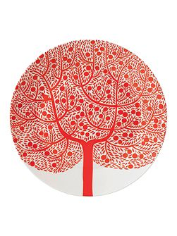 Fable red tree accent plate 22cm