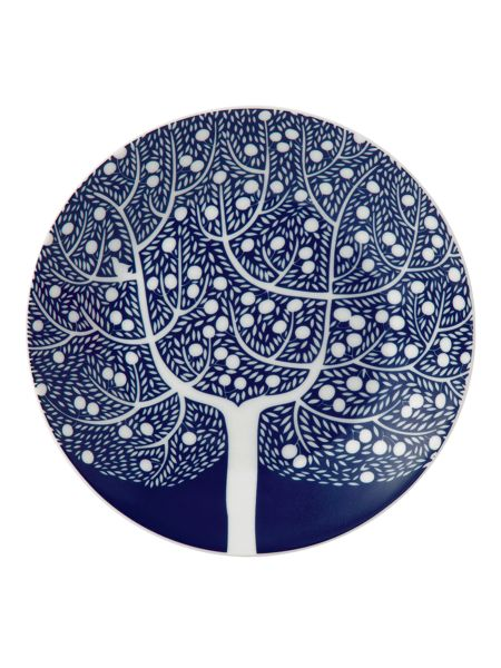 Royal Doulton Fable blue tree accent plate 16cm