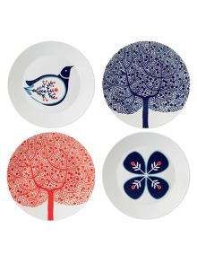 Royal Doulton Fable 22cm accent plates, set of 4