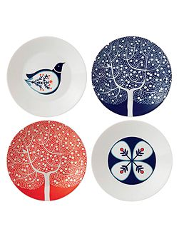 Fable 16cm accent plates, set of 4