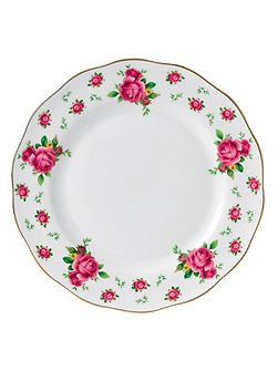 New country roses white dinner plate 27cm