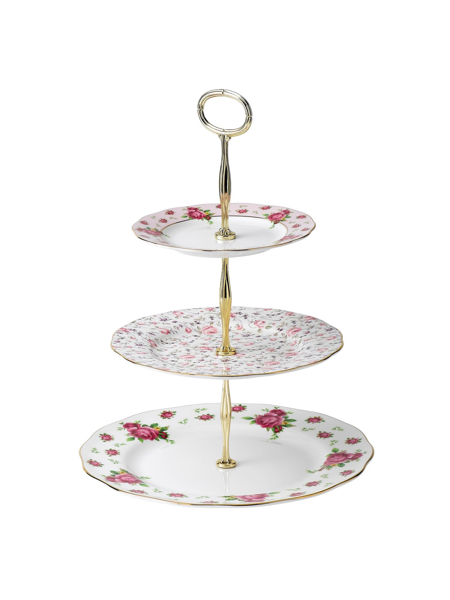 Royal Albert New country roses 3 tier cake stand