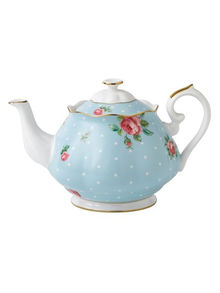 Royal Albert Polka blue teapot, 1.25L