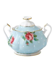 Royal Albert Polka blue covered sugar 0.35ltr