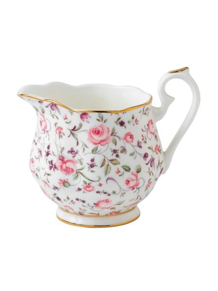 Royal Albert Rose confetti creamer large size