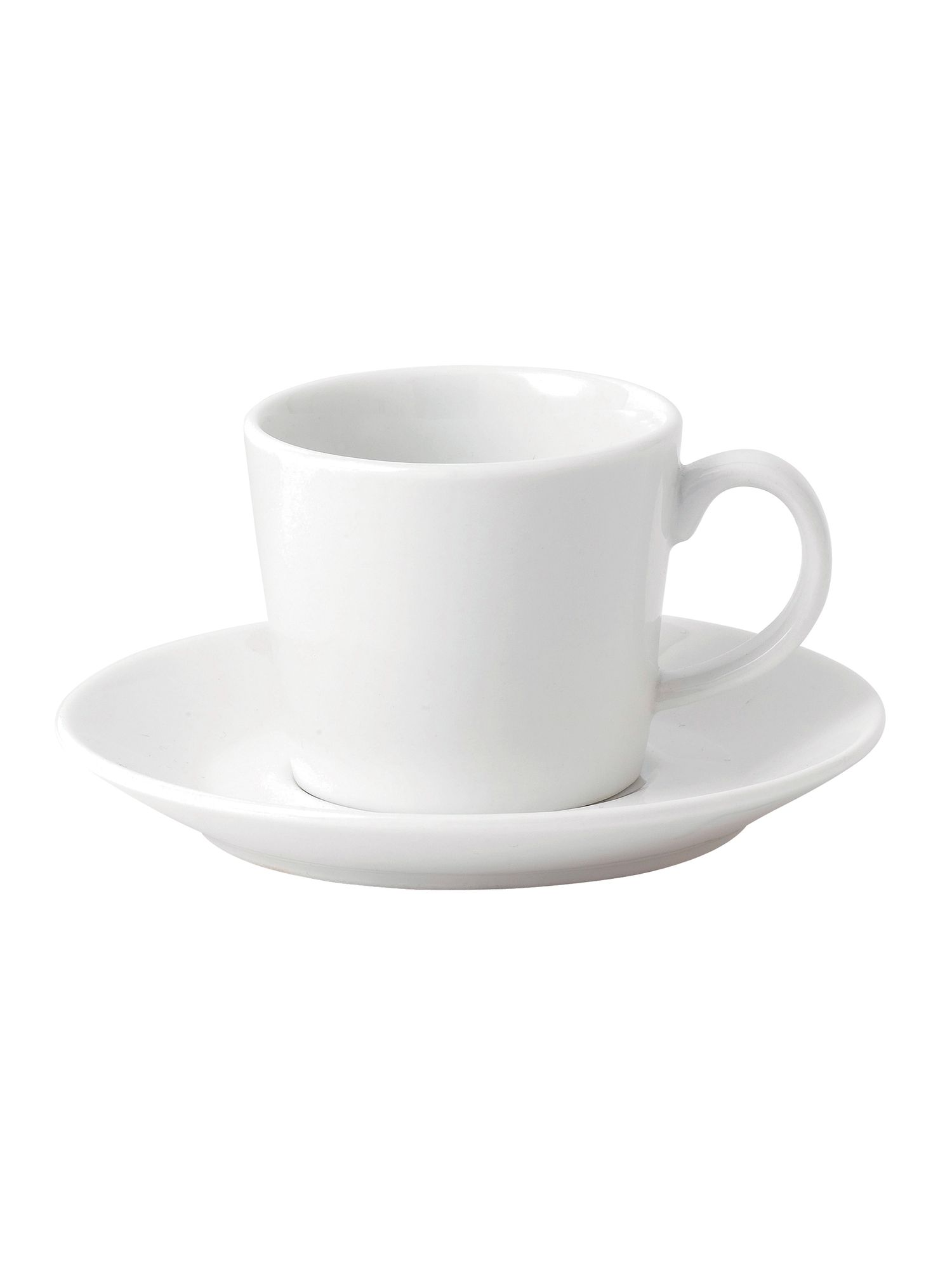 Fable white espresso cup and saucer