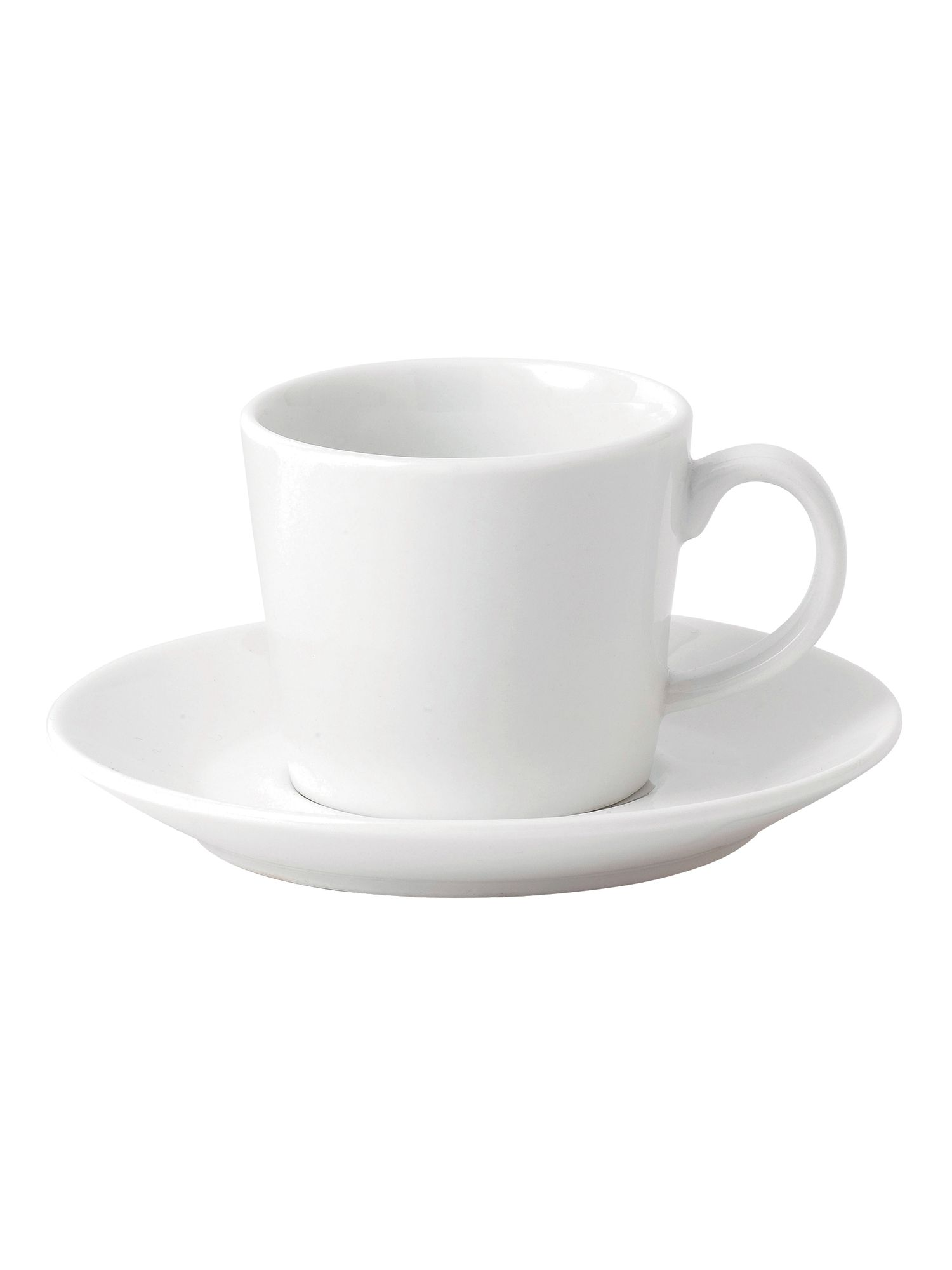 Fable white teacup and saucer