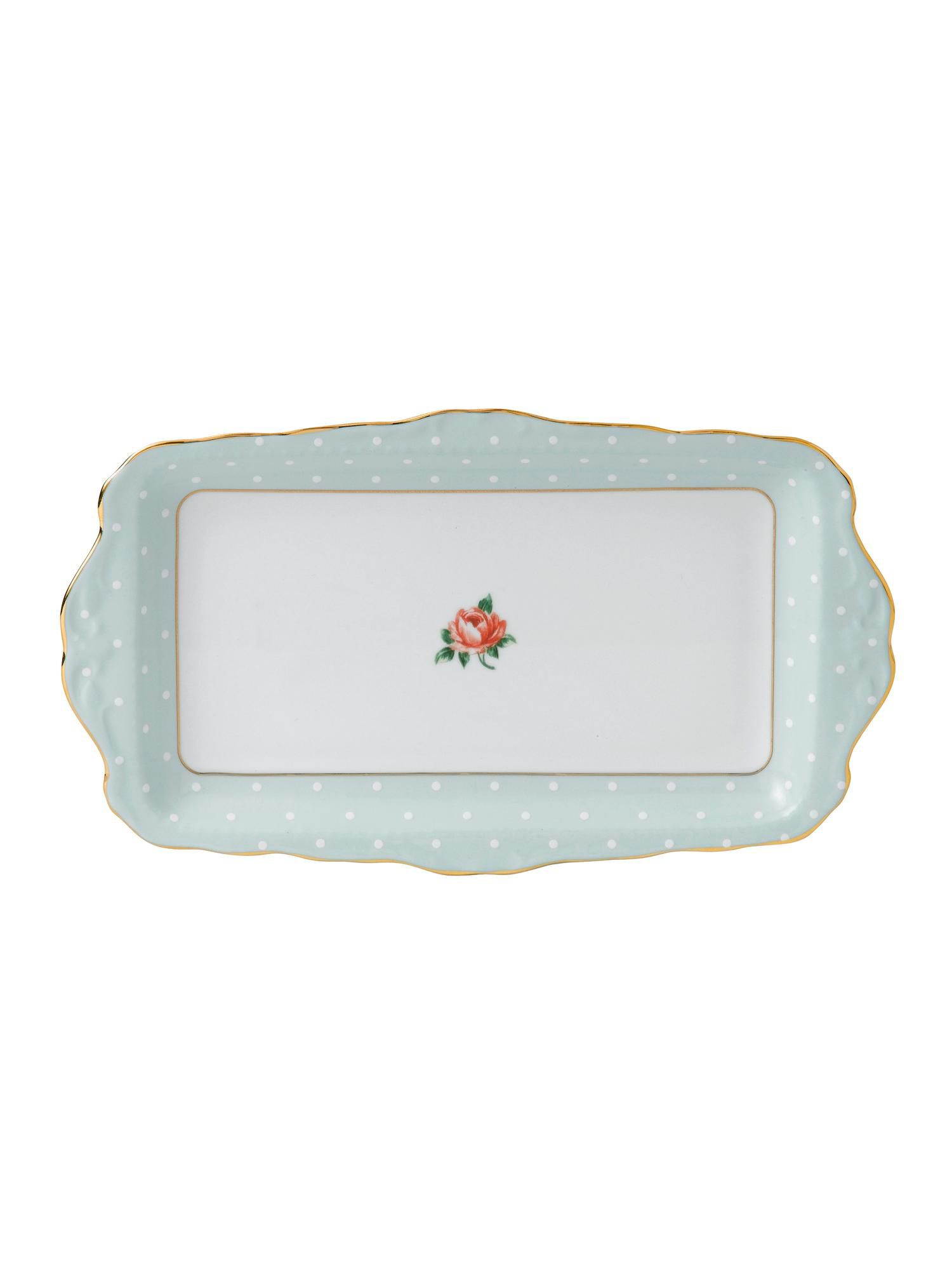 Polka rose sandwich tray boxed