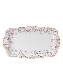 Royal Albert Rose confetti sandwich tray boxed