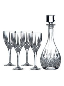 Royal Doulton Wine decanter and four wine glasses