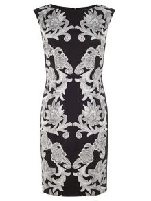 Adrianna Papell Sleeveless floral print sheath dress
