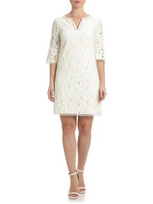 Adrianna Papell Short 3/4 sleeve lace dress