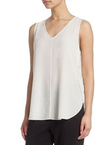 Sleeveless A-line tank top