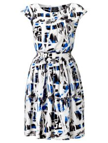 Abstract print day dress