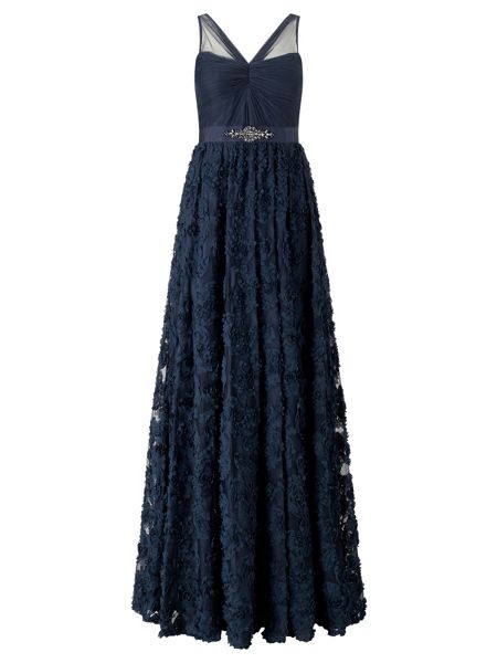 Adrianna Papell Floral applique ball gown