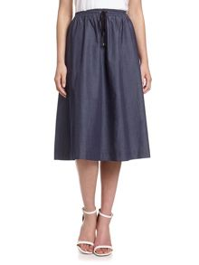 Adrianna Papell Chambray a-line midi skirt