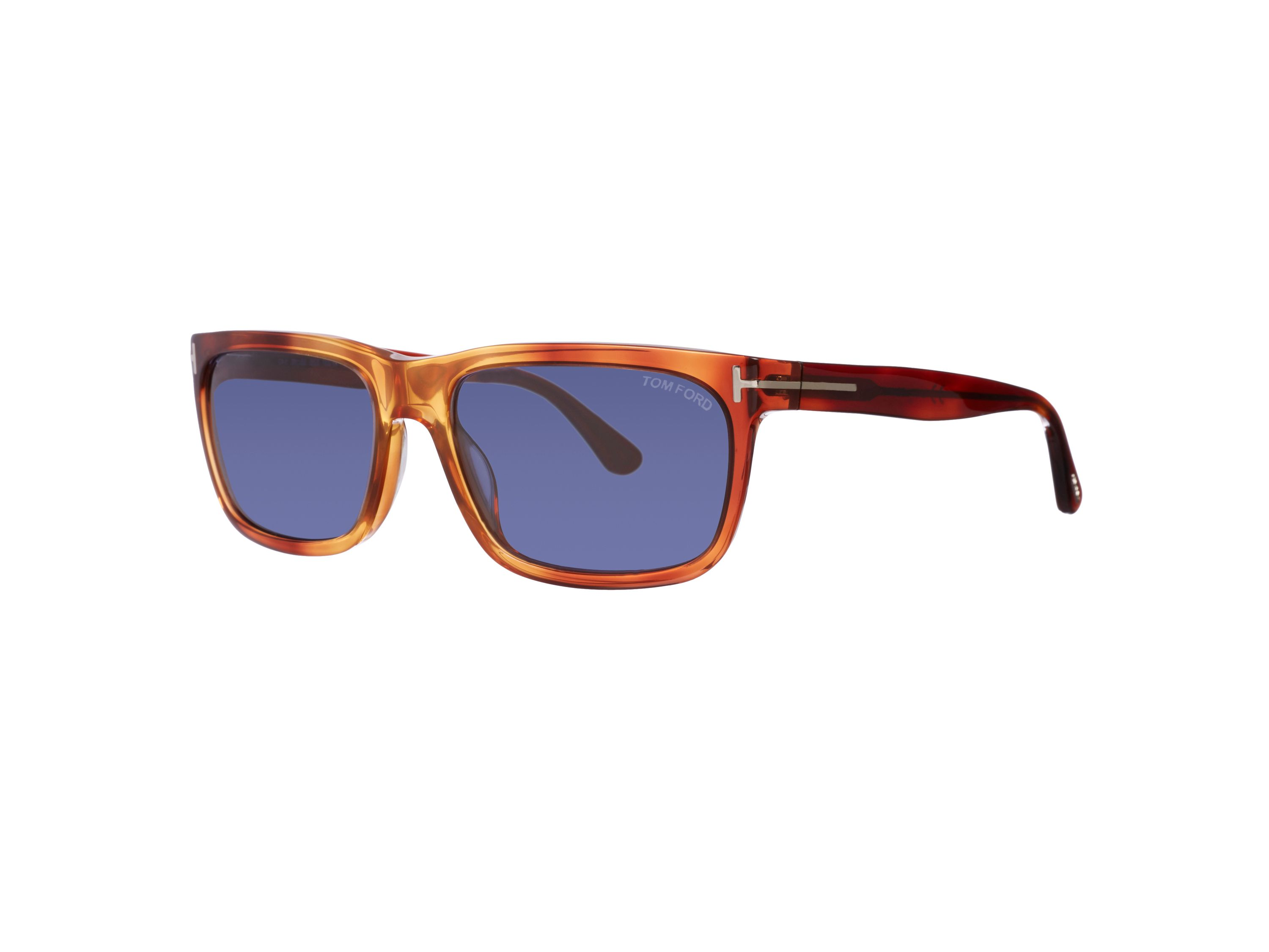 Men`s blue irregular sunglasses