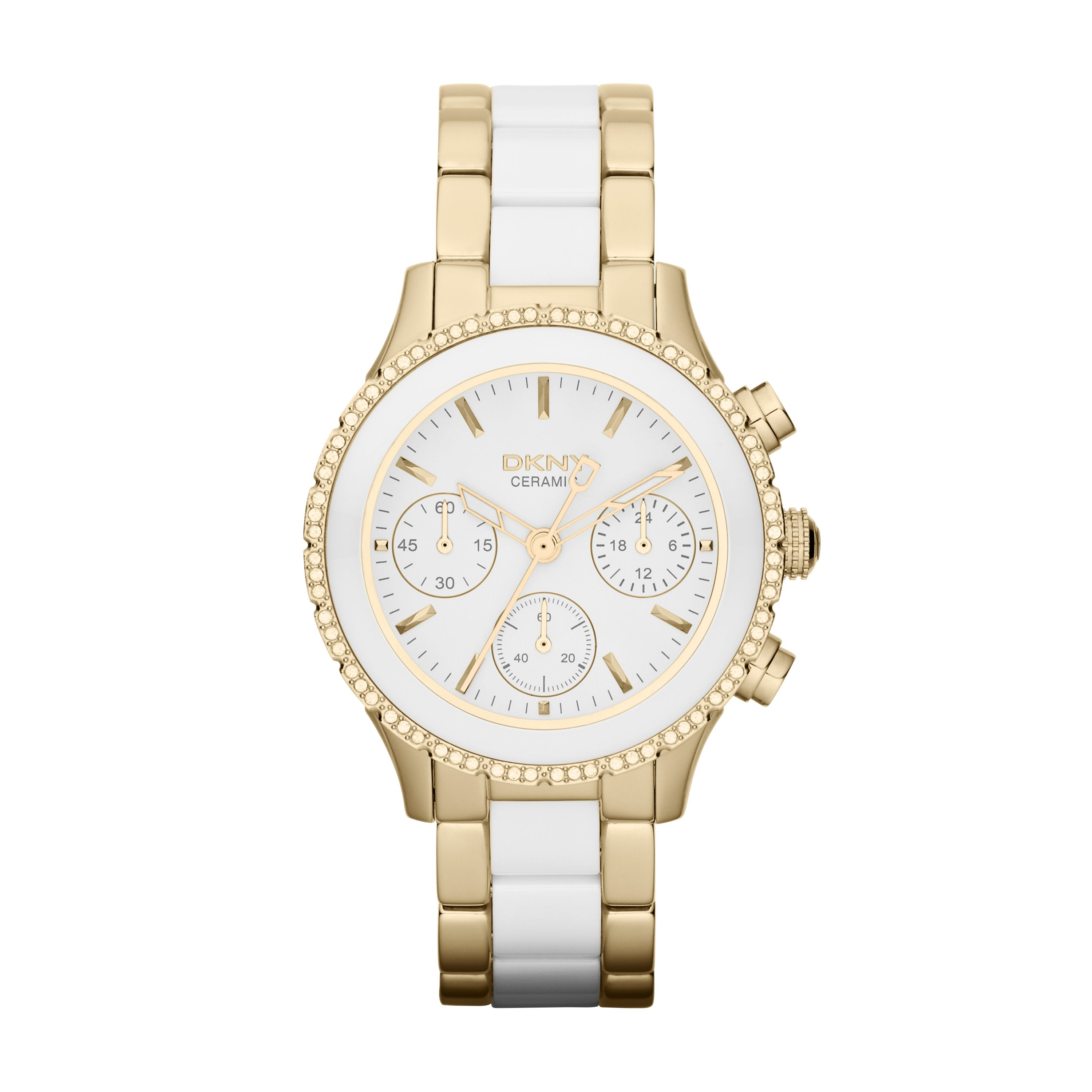 NY8830 Chic ladies chronograph ceramic watch