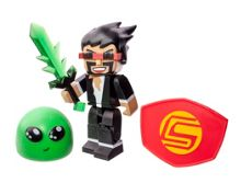 Tube Heroes Captain Sparklez Figure With Accessories