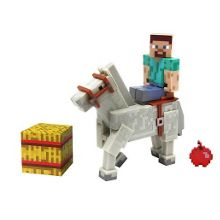 Minecraft steve and horse figure pack